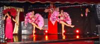 Tableau plumes avec Louna, Thibaut Accart et les danseuses de music-hall & dance company