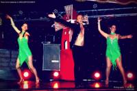 Tableau Rock avec Thibaut Accart et les danseuses de music-hall & dance company